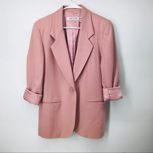 Vintage Dusty Rose Merino Wool Blazer